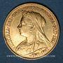 Coins Grande Bretagne. Victoria (1837-1901). 1/2 souverain 1894. 917 /1000. 3,99 gr