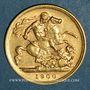 Coins Grande Bretagne. Victoria (1837-1901). 1/2 souverain 1900. (PTL 917‰. 3,99 g)
