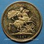 Coins Grande Bretagne. Victoria (1837-1901). 5 livres 1887. (PTL 917/1000. 39,94 g)