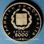 Coins Grèce. 5 000 drachme 1981. (PTL 900‰. 12,5 g)