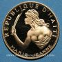 Coins Haïti. République. 100 gourdes 1968. 10e anniversaire de la révolution. (PTL 900‰. 19,75 g)
