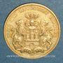 Coins Hambourg. 20 mark 1875J. (PTL 900/1000. 7,96 gr)