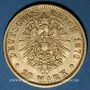 Coins Hambourg. 20 mark 1876J. (PTL 900/1000. 7,96 g)