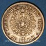Coins Hambourg. 20 mark 1877J. (PTL 900/1000. 7,96 g)