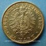 Coins Hambourg. 20 mark 1883 J. (PTL 900‰. 7,96 g)