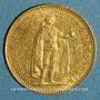 Coins Hongrie. François Joseph I (1848-1916). 10 couronnes 1911. (PTL 900‰. 3,39 g)