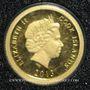 Coins Iles Cook. Elisabeth II (1952 -/). 5 dollars 2013 (PTL 999‰. 0,5 g)