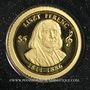 Coins Iles Cook. Elisabeth II (1952 -/). 5 dollars 2015 (PTL 999‰. 0,5 g)