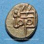 Coins Inde. Tuticorin. Imitation du monnayage de Tanjore (1700-1794). Fanam