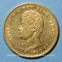 Coins Italie. Sardaigne. Charles Albert (1831-1849). 20 lires 1840P. Gênes. (PTL 900/1000. 6,45 g)