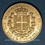 Coins Italie. Sardaigne. Charles Albert (1831-1849). 20 lires 1841P. Gênes. (PTL 900/1000. 6,45 g)