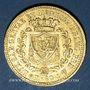 Coins Italie. Sardaigne. Charles Félix (1821-1831). 40 lires 1825P. Gênes. (PTL 900/1000. 12,90 g)