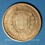 Coins Italie. Sardaigne. Victor Emmanuel II (1849-1861). 20 lires 1852 P. Gênes. (PTL 900‰. 6,45 g)