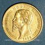 Coins Italie. Sardaigne. Victor Emmanuel II (1849-1861). 20 lires 1858P. Gênes. (PTL 900/1000. 6,45 g)