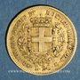 Coins Italie. Sardaigne. Victor Emmanuel II (1849-1861). 20 lires 1859B. Turin. (PTL 900/1000. 6,45 g)