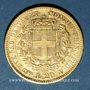Coins Italie. Sardaigne. Victor Emmanuel II (1849-1878). 20 lires 1851B. Turin. 900 /1000. 6,45 gr
