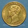 Coins Italie. Sardaigne. Victor Emmanuel II (1849-1878). 20 lires 1858P. Gênes. 900 /1000. 6,45 g