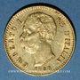 Coins Italie. Umberto I (1878-1900). 20 lires 1888/8 R. Rome. (PTL 900‰. 6,45 g)
