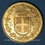 Coins Italie. Umberto I (1878-1900). 20 lires 1891R. Rome. (PTL 900/1000. 6,45 g)