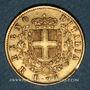 Coins Italie. Victor Emmanuel (1861-1878). 20 lires 1877 R. Rome. (PTL 900‰. 6,45 g)