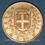 Coins Italie. Victor Emmanuel II (1861-1878). 20 lires 1873. Milan. (PTL 900/1000. 6,45 g)
