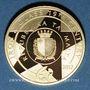 Coins Malte. 50 euro 2017. Jardin botanique Argotti. (PTL 916‰. 6,50 g)