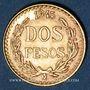 Coins Mexique. République. 2 pesos 1945. (PTL 900‰. 1,66 g)