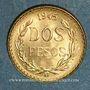 Coins Mexique. République. 2 pesos 1945. (PTL 900 /1000. 1,66 g)