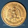 Coins Mexique. République. 5 pesos 1906. (PTL 900‰. 4,16 g)