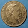 Coins Monaco. Charles III (1856-1889). 20 francs 1879 A. Ancre barrée. (PTL 900‰. 6,45 g)