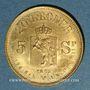 Coins Norvège. Oscar II (1872-1907). 20 kroner 1875 (PTL 900‰. 8,96 g)