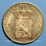 Coins Pays-Bas. Guillaume III (1849-1890). 10 florins (= 10 gulden) 1888. 900/1000. 6,72 g.