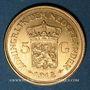 Coins Pays Bas. Wilhelmine (1890-1948). 5 florins 1912. (PTL 900‰. 3,36 g)
