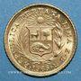 Coins Perou. République. 1/5 libra 1965. (PTL 917‰. 1,5976 g)