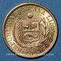 Coins Perou. République. 1 libra 1964. (PTL 917‰. 7,9881 g)