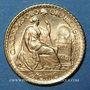 Coins Perou. République. 5 soles 1965. (PTL 900‰. 2,34 g)