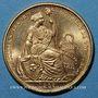 Coins Perou. République. 50 soles 1965. (PTL 900‰. 23,4056 g)