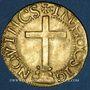 Coins Portugal. Jean III (1521-1557). Cruzado au calvaire, 2e type. Lisbonne