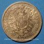Coins Prusse. Guillaume I (1861-1888). 10 mark 1872 A. (PTL 900‰. 3,98 g)