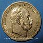 Coins Prusse. Guillaume I (1861-1888). 10 mark 1872A. (PTL 900/1000. 3,98 g)