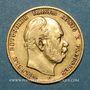 Coins Prusse. Guillaume I (1861-1888). 10 mark 1878 C. (PTL 900‰. 3,98 g)
