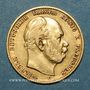 Coins Prusse. Guillaume I (1861-1888). 10 mark 1878C. (PTL 900/1000. 3,98 g)