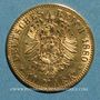 Coins Prusse. Guillaume I (1861-1888). 10 mark 1880A. (PTL 900/1000. 3,98 g)