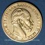 Coins Prusse. Guillaume I (1861-1888). 20 mark 1872 A. (PTL 900‰. 7,96 g)