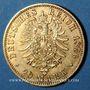 Coins Prusse. Guillaume I (1861-1888). 20 mark 1876 A. (PTL 900‰. 7,96 g)