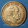 Coins Prusse. Guillaume I (1861-1888). 20 mark 1878 A. (PTL 900‰. 7,96 g)