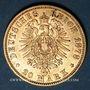 Coins Prusse. Guillaume I (1861-1888). 20 mark 1878A. (PTL 900/1000. 7,96 g)