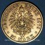 Coins Prusse. Guillaume I (1861-1888). 20 mark 1879A. (PTL 900/1000. 7,96 g)
