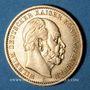 Coins Prusse. Guillaume I (1861-1888). 20 mark 1881A. (PTL 900/1000. 7,96 g)