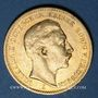 Coins Prusse. Guillaume II (1888-1918). 20 mark 1889A. (PTL 900/1000. 7,96 g)